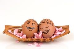 Pares dos ovos das artes e da cara Foto de Stock Royalty Free