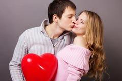 Pares dos Valentim Imagem de Stock