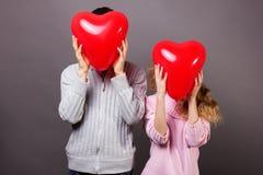 Pares dos Valentim Imagem de Stock Royalty Free