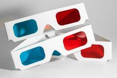 Pares dos vidros 3D Fotografia de Stock Royalty Free