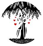 Pares e árvore ilustração do vetor