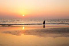 Pares e por do sol India imagens de stock royalty free