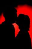 Pares el el día de tarjeta del día de San Valentín Imagen de archivo libre de regalías