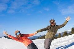 Pares el vacaciones del esquí Fotos de archivo