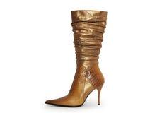 Pares elegantes de los zapatos de la mujer en un fondo blanco Fotografía de archivo