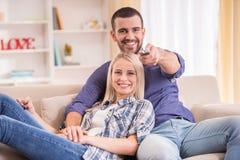 Pares em casa Fotos de Stock Royalty Free