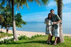 Pares em férias fotografia de stock royalty free