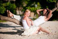 Pares em férias foto de stock royalty free