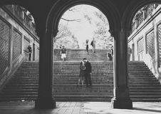 Pares em NYC Imagens de Stock Royalty Free