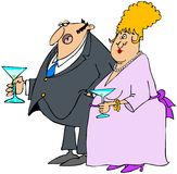 Pares em um cocktail. Imagens de Stock Royalty Free