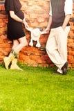 Pares embarazadas Foto de archivo
