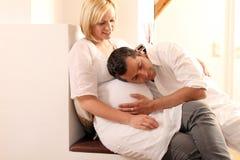Pares embarazados Imagen de archivo libre de regalías