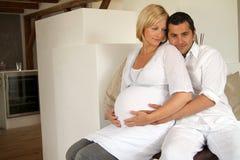 Pares embarazados Imagen de archivo
