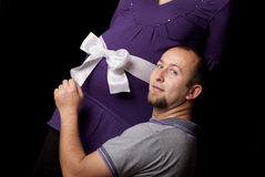 Pares embarazados Foto de archivo libre de regalías