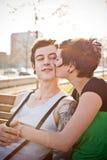 Pares en amor Imagen de archivo libre de regalías