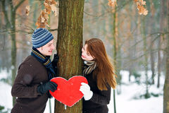 Pares en amor Fotografía de archivo libre de regalías