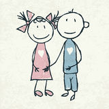 Pares en amor stock de ilustración