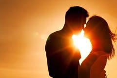Pares en amor Fotografía de archivo