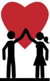 Pares en amor Imágenes de archivo libres de regalías