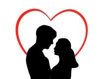 Pares en amor Imagen de archivo