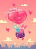 Pares en amor Sistema de imágenes divertidas felices libre illustration