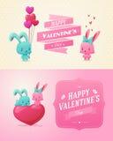 Pares en amor Sistema de imágenes divertidas felices ilustración del vector