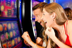 Pares en casino Fotografía de archivo libre de regalías