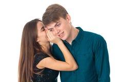 Pares en el amor que se divierte foto de archivo libre de regalías