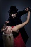 Pares en el baile del amor foto de archivo