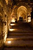 Pares en el castillo de Ajlun Fotografía de archivo