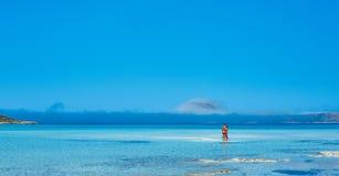 Pares en el mar Fotografía de archivo libre de regalías