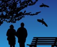 Pares en el parque Imagen de archivo libre de regalías