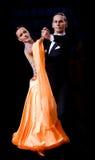 Pares en la actitud del baile Imagen de archivo