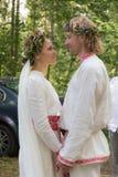 Pares en la boda Fotografía de archivo libre de regalías