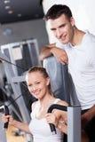 Pares en la gimnasia Imagen de archivo libre de regalías