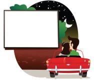 Pares en la impulsión en cine libre illustration