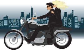 Pares en la motocicleta Imagenes de archivo