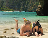 Pares en las islas de la phi de la phi Fotografía de archivo libre de regalías