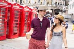 Pares en Londres Imagen de archivo libre de regalías