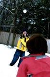 Pares en nieve Fotografía de archivo