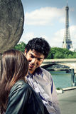 Pares en París Francia Imágenes de archivo libres de regalías