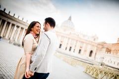 Pares en Roma Fotografía de archivo libre de regalías