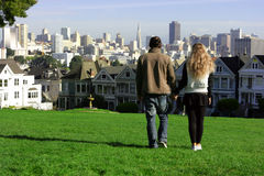 Pares en San Francisco Imágenes de archivo libres de regalías