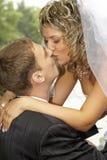 Pares en su día de boda Imagen de archivo libre de regalías