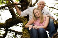 Pares en un árbol Fotos de archivo libres de regalías