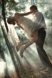 Pares en un bosque Imagen de archivo