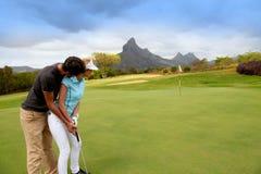 Pares en verde del golf Fotografía de archivo