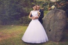 Pares encantadores de la boda Fotografía de archivo