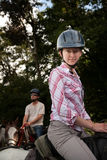 Pares equestres Fotografia de Stock Royalty Free