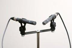 Pares estéreos del micrófono Fotografía de archivo libre de regalías